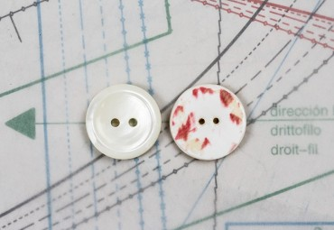 bouton en nacre, 1 lot 13 pièces