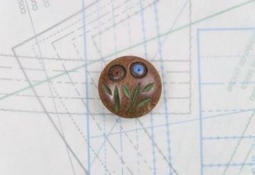 bouton en bois