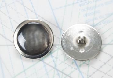 Bouton en métal argenté moulé boucle en U moulée