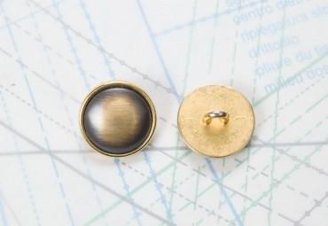 Bouton en métal doré noir boucle en U