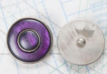 Bouton en métal argenté boucle en U