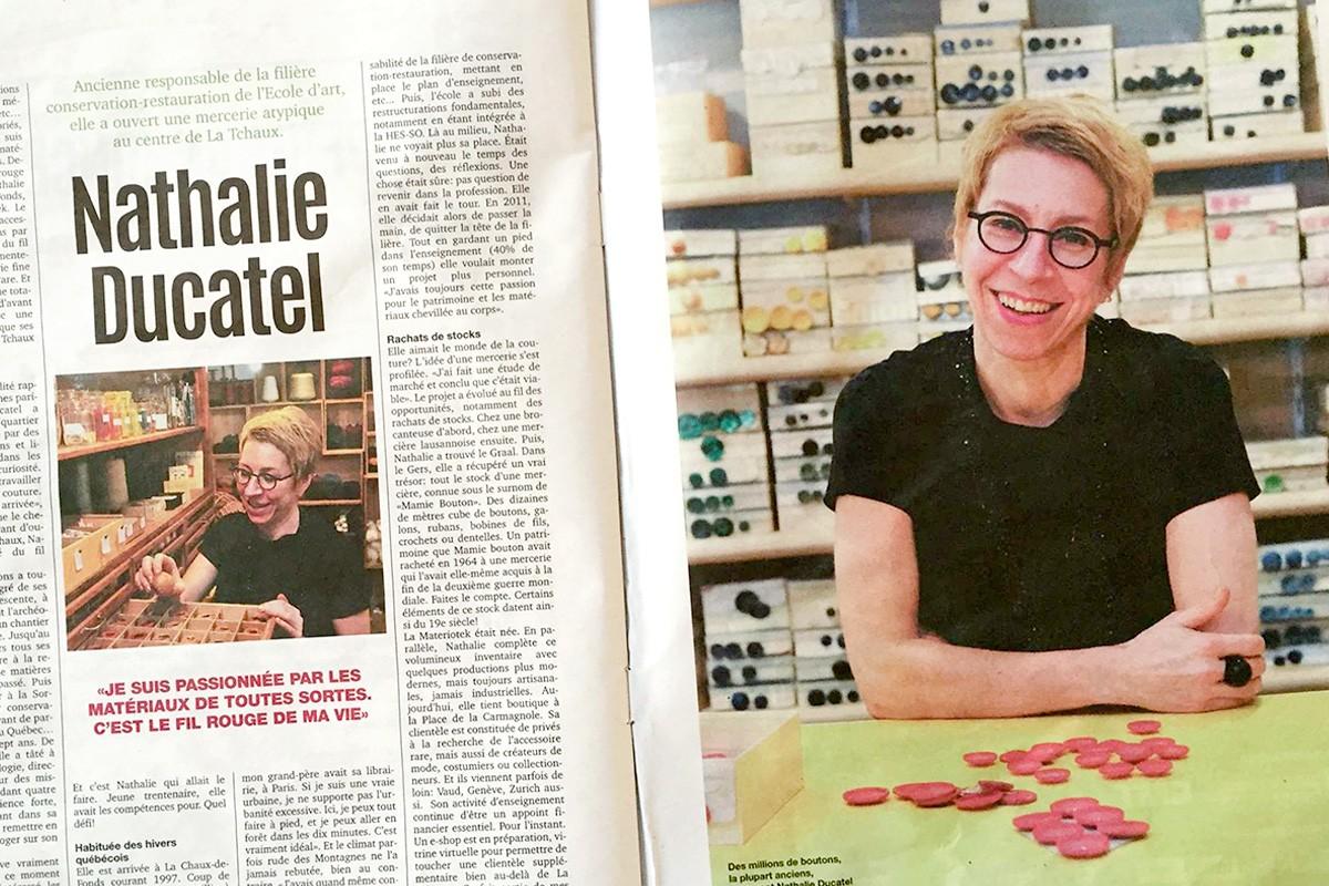 Article de presse : Nathalie Ducatel
