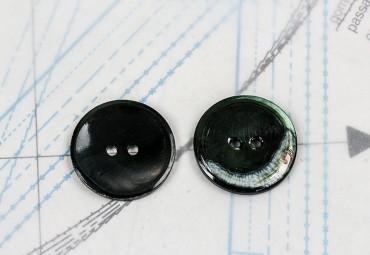 bouton en nacre, 1 lot 12 pièces