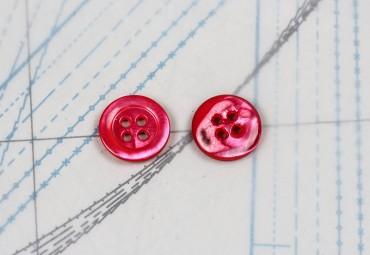 bouton en nacre, 1 lot 24 pièces
