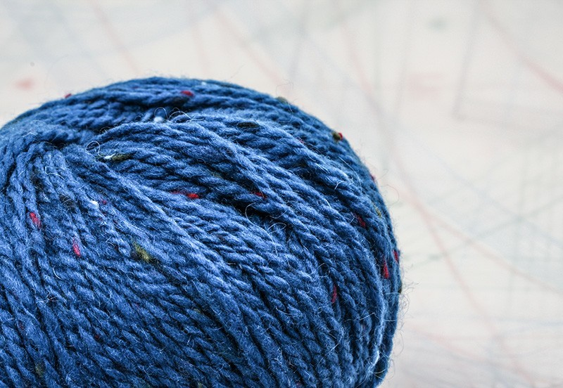 fil à tricoter en fibres de mouton mérinos et chèvre mohair