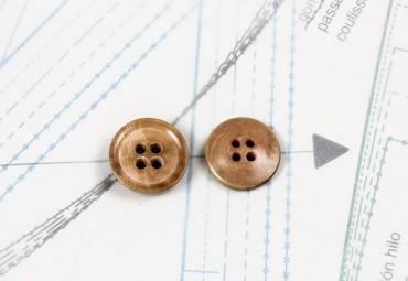 bouton en corozo 1 lot égal 2g égal 2 boutons