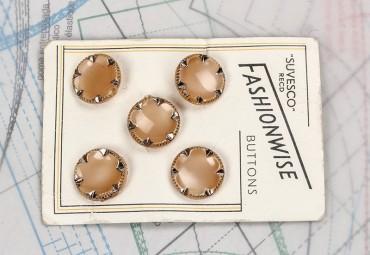bouton en verre 1 plaque 5 boutons