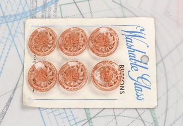 bouton en verre 1 plaque 6 boutons