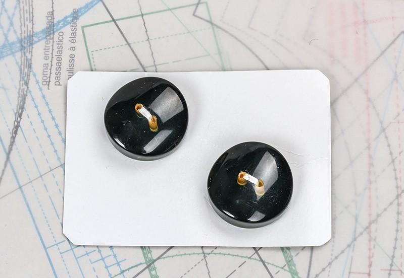 bouton en verre 1 plaque 2 boutons