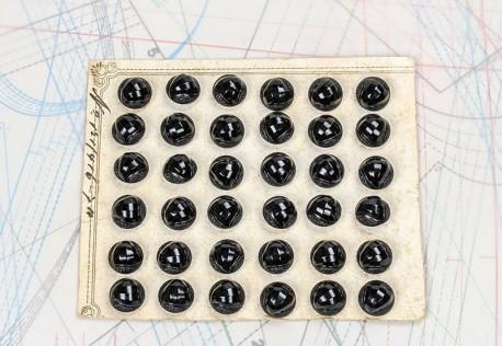 bouton en verre 1 plaque 36 boutons