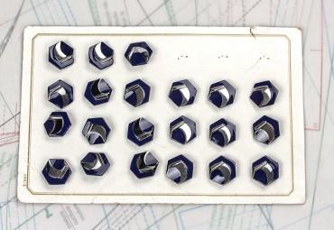 bouton en verre 1 plaque 21 boutons