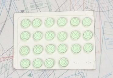 bouton en verre 1 plaque 22 boutons